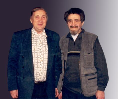 В.Е.Ронкин (справа) и С.Д.Хахаев (слева)